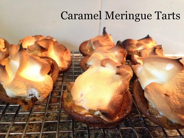 caramel meringue tarts