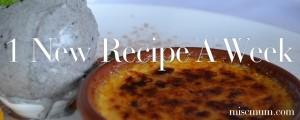 1 New Recipe A Week